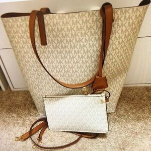 MK Signature Print Handbag & Wristlet